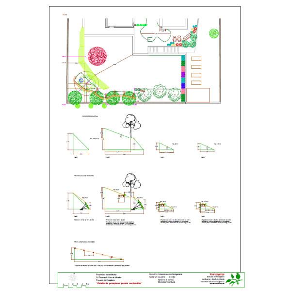 Proyecto de contención con técnicas del bioingeniería del jardín Piqueras 6, Soto de Viñuelas (Madrid).
