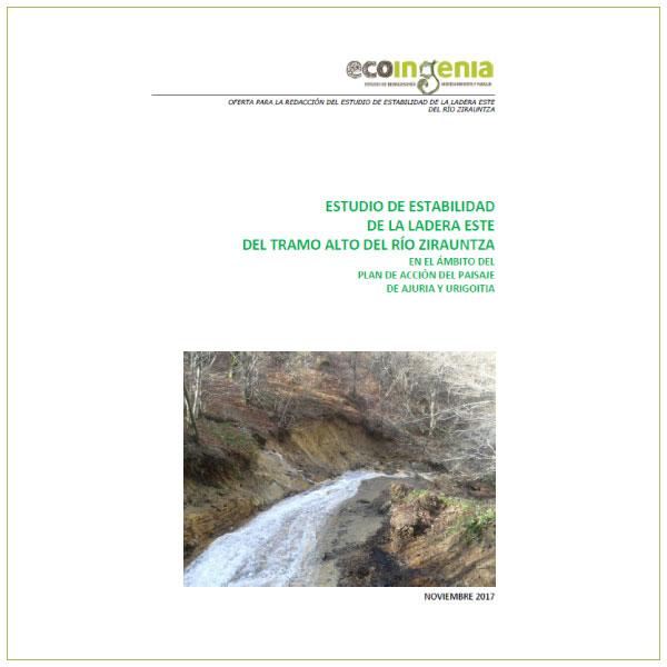 Estudio de estabilidad de las laderas de la cabecera del río Zirauntza.