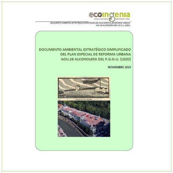 "Evaluación Ambiental Estratégica Simplificada de la Modificación Puntual de NNSS ""Alcoholera"" en Lezo (Gipuzkoa)."