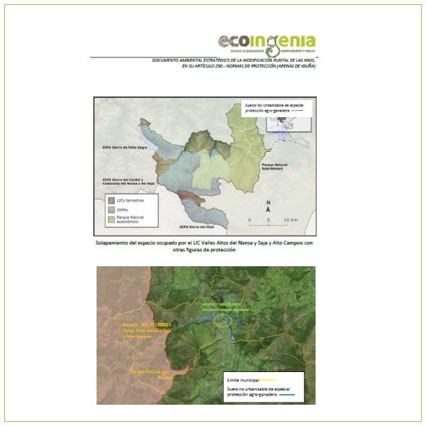 Evaluación Ambiental Estratégica Simplificada de la Modificación Puntual de NNSS de Arenas de Iguña (Cantabria).