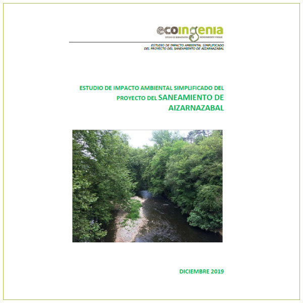 Informe ambiental del Proyecto de saneamiento de Aizarnazabal.