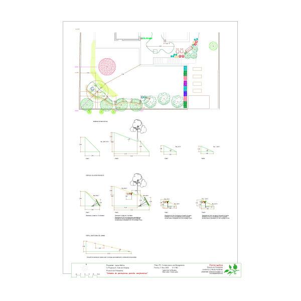 Proyecto de paisajismo y sostenimiento de taludes con bioingeniería en parcela unifamiliar en Tres Cantos (Madrid).